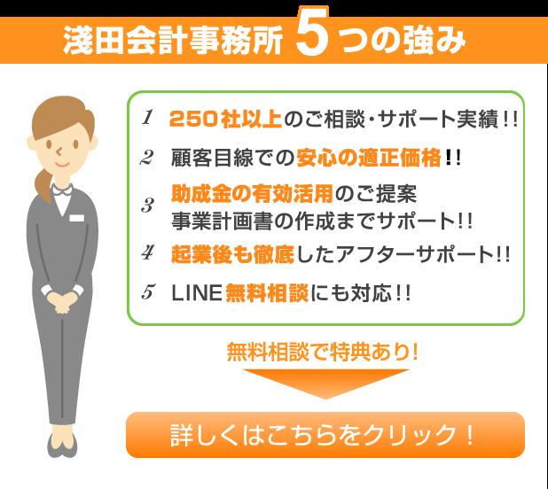 浅田会計事務所5つの強み画像
